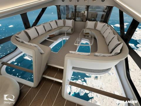 Inside the world's largest aircraft, which is set to have glass floors and take wealthy travellers on luxury 3-day expeditions