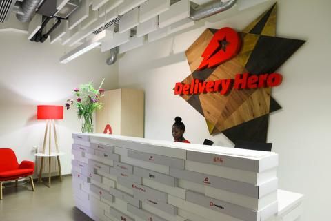 Interior de la sede de Delivery Hero