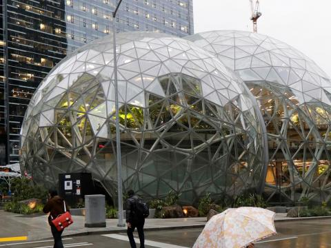 It doesn't hurt that this first Amazon Go store is based in Amazon's Day 1 skyscraper headquarters, next to the Amazon Spheres.
