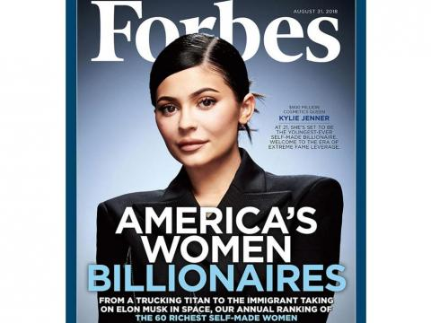 Kylie Jenner is on the cover of Forbes' America's Women Billionaires issue.