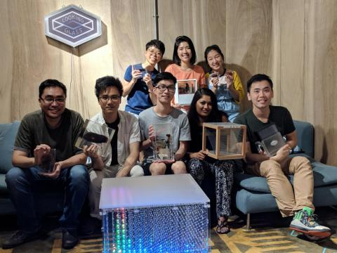 Looking Glass' CEO said the company went through hundreds of prototypes before finalizing their design. Here's the Hong Kong office holding some of them.