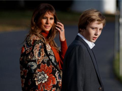 Melania is a full-time mom and likes to be hands-on, so she refuses to spend money on a nanny. She does indulge son Barron Trump in a lavish lifestyle, dressing him in suits and moisturizing him with her brand's Caviar Complex C6