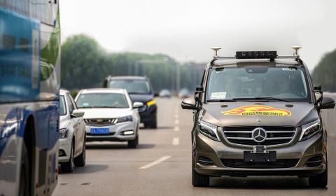 Mercedes Clase V pruebas autónomas en china