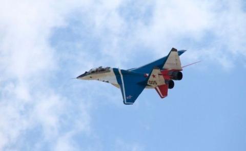 Un MIG-29 acrobático