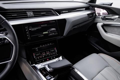 The MMI system features two touchscreen dashboards.