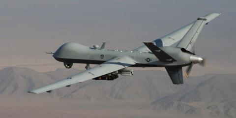 The MQ-9A Reaper.