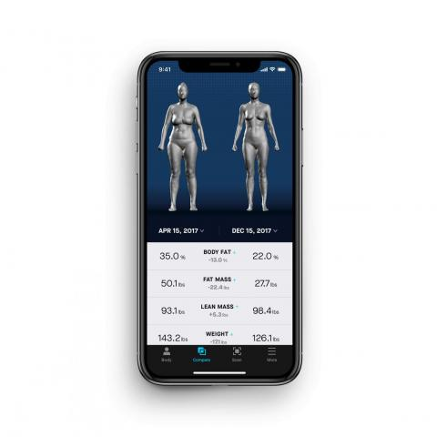 Naked Lab's smartphone-paired technology delivers precise data on your body.
