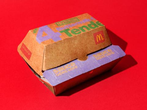 The new tenders from McDonald's came in a unique box.