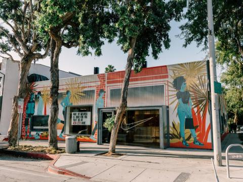 Nike by Melrose is located on Melrose Avenue in West Hollywood.