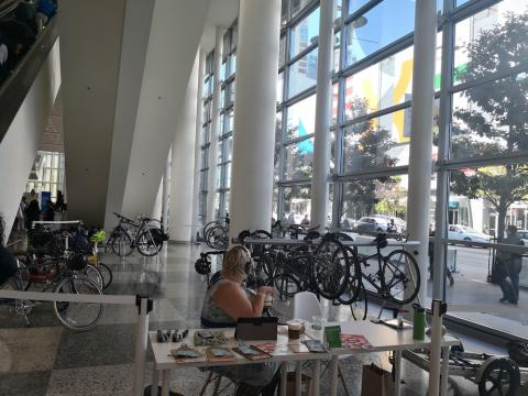 Parking de bicis de Google Cloud Next 2018.