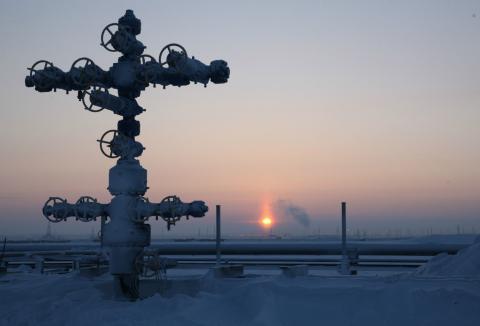 Pozo de extracción de gas de Gazprom