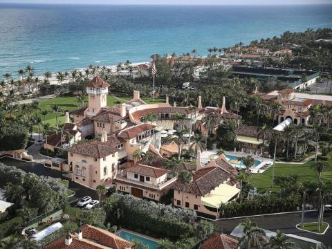 A real estate tycoon, Trump has more than one residence. The Trumps have often been spotted Mar-A-Lago, a 17-acre estate in Palm Beach, Florida, that Trump purchased for $10 million. It has 58 bedrooms, 33 bathrooms, 12 fireplaces