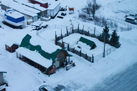"""""""The reindeer pen as seen from above."""""""