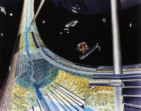 Residents would be able to gaze at floating space shuttles, clunky droids, and other gizmos.