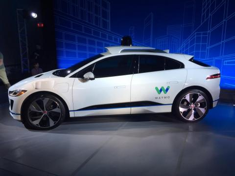 A self-driving I-PACE prototype.