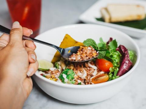 Swap the white bread and rice in your meals for whole grains.