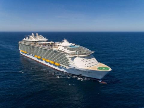 The Symphony of the Seas can hold up to 6,680 passengers.