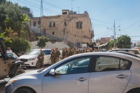 """The experience was something like """"Israel-Palestine 101."""" I was deeply affected by the conflicting narratives of both sides, the many painful events suffered in Hebron, and the way in which the city feelsa military camp with"""
