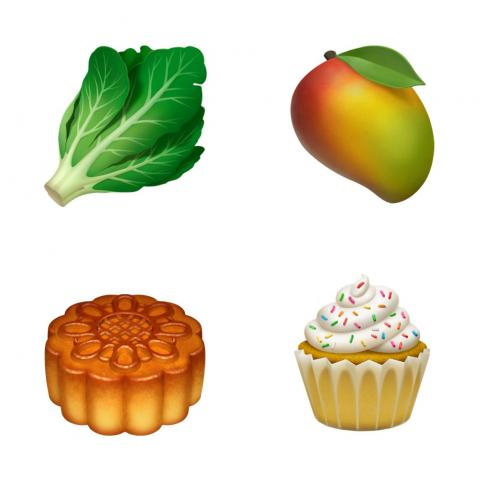 There are a few new foods coming, too: a cupcake, cake, lettuce, and a mango all made the cut.