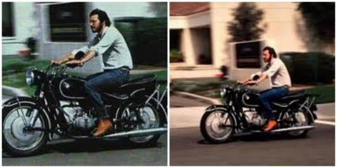 "There was a motorbike parked in the Atrium of 10460 Bandley Drive. Shelton says: ""It was a 500cc BMW motorcycle similar or identical to the one that Steve had ridden in Africa (or so the story goes.) A man called Apple one day in early 1984 after the Mac"