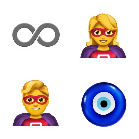 There will be an infinity symbol, male and female superheroes, and a nazar amulet, which protects against the evil eye.