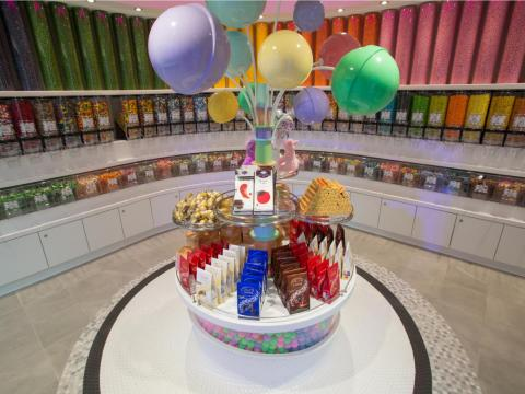 There's a candy store, if you want to indulge your sweet tooth.