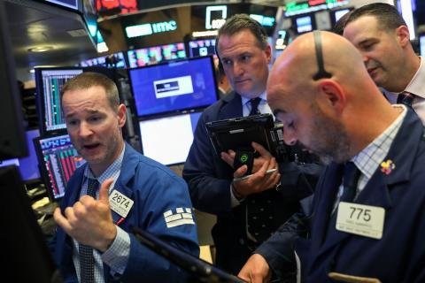 Traders en Wall Street.