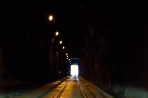 """""""Traveling through the tunnel, it makes you feel a little claustrophobic. By the time you're nearing the end, this is definitely a welcome sight."""""""