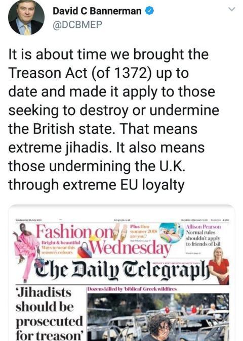 Tweet de ministro británico