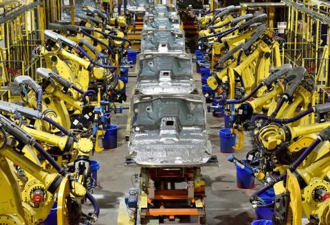 A US pickup-truck factory.