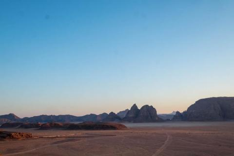 "The tour in Jordan was made even more epic because, after leaving Petra, I spent the night in Wadi Rum, a desert valley in Jordan. It has played the part of Mars and distant planets in countless movies, including ""The Martian,"""