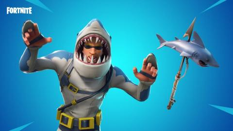 This week's update happens to fall on Shark Week, which creators at Epic Games have decided to celebrate with a fishy new skin and pick-axe.
