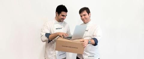 Andrés Casal y Efrén Álvarez, fundadores de Wetaca