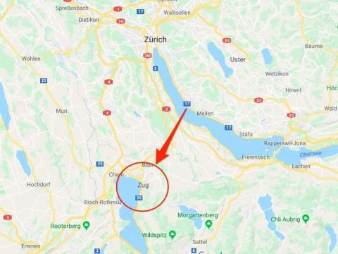 Zug está a una hora de Zurich en tren.