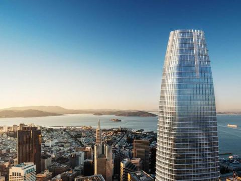 The 1,070-foot-high, $1.1 billion Salesforce Tower is the tallest and most expensive skyscraper in San Francisco. It opened in May 2018.