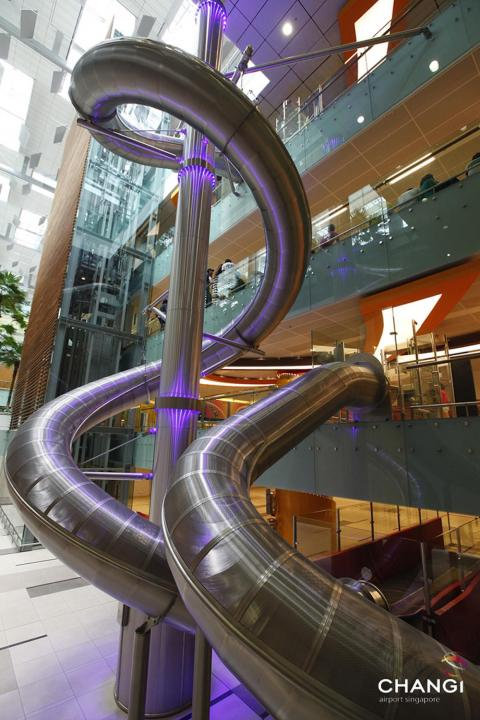 11. Highlights include a four-story tall slide...