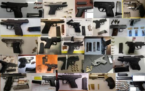 13. Loaded guns