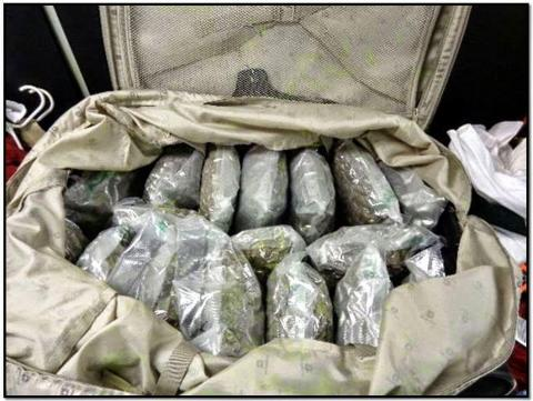 17. Eighty pounds of Marijuana