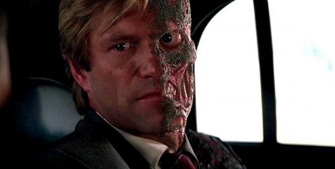 "19. Aaron Eckhart as Harvey Dent/Two-Face in ""The Dark Knight"" (2008)"