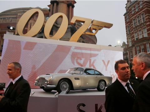 2. James Bond's 1964 Aston Martin DB5