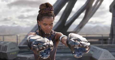 "20. Letitia Wright as Shuri in ""Black Panther"""