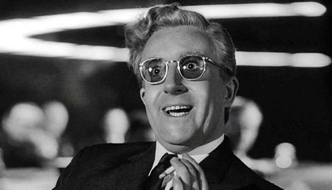 "26. ""Dr. Strangelove or: How I Learned to Stop Worrying and Love the Bomb"" (1964)"
