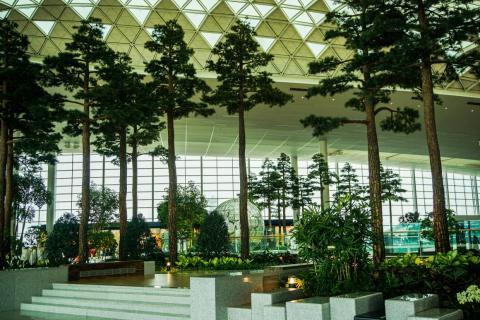 3. Incheon International Airport (South Korea) — Indoor Garden