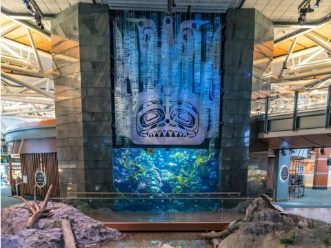 4. Vancouver International Airport (Canada) — Aquarium