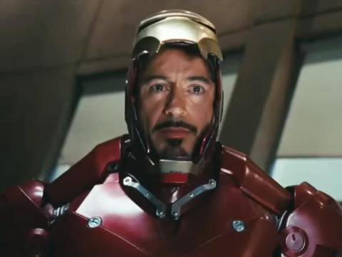 "5. Robert Downey Jr. as Tony Stark/Iron Man in ""Iron Man"" (2008)"