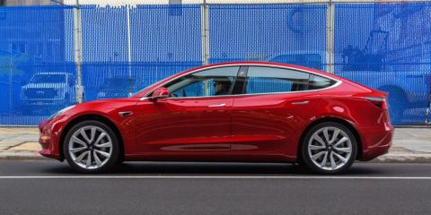 """7. The standard Model 3 comes with 18-inch or 19-inch sport wheels from Tesla. The Model 3 Performance can be upgraded to 20-inch """"performance"""" wheels that have better grip. Larger tires also tend to increase a car's gas mileage."""