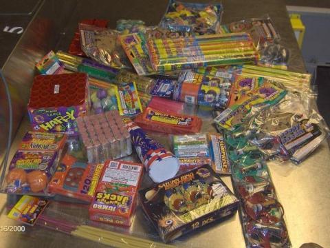 8. An assortment of fire-crackers