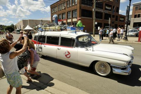 9. 1959 Cadillac Miller-Meteor ambulance Ecto-1