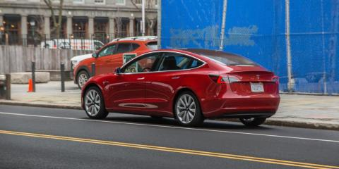 """9. The standard Model 3 weighs anywhere between 3,552 and 3,757 pounds. The Model 3 Performance weighs a whopping 4,072 pounds, which is a good thing: Although the standard Model 3 is <a href=""""https://electrek.co/2018/05/15/tesla"""