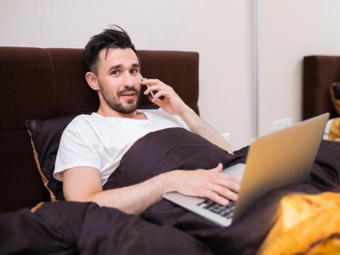 And, with 70% of professionals telecommuting at least once a week according to global workplace corporation IWG, employees are set to only continue to challenge the boundaries of work dress. After all, no one's going to see that